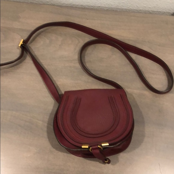 98db51cd5f0 Chloe Bags | Mini Marcie Bag Burgundy | Poshmark
